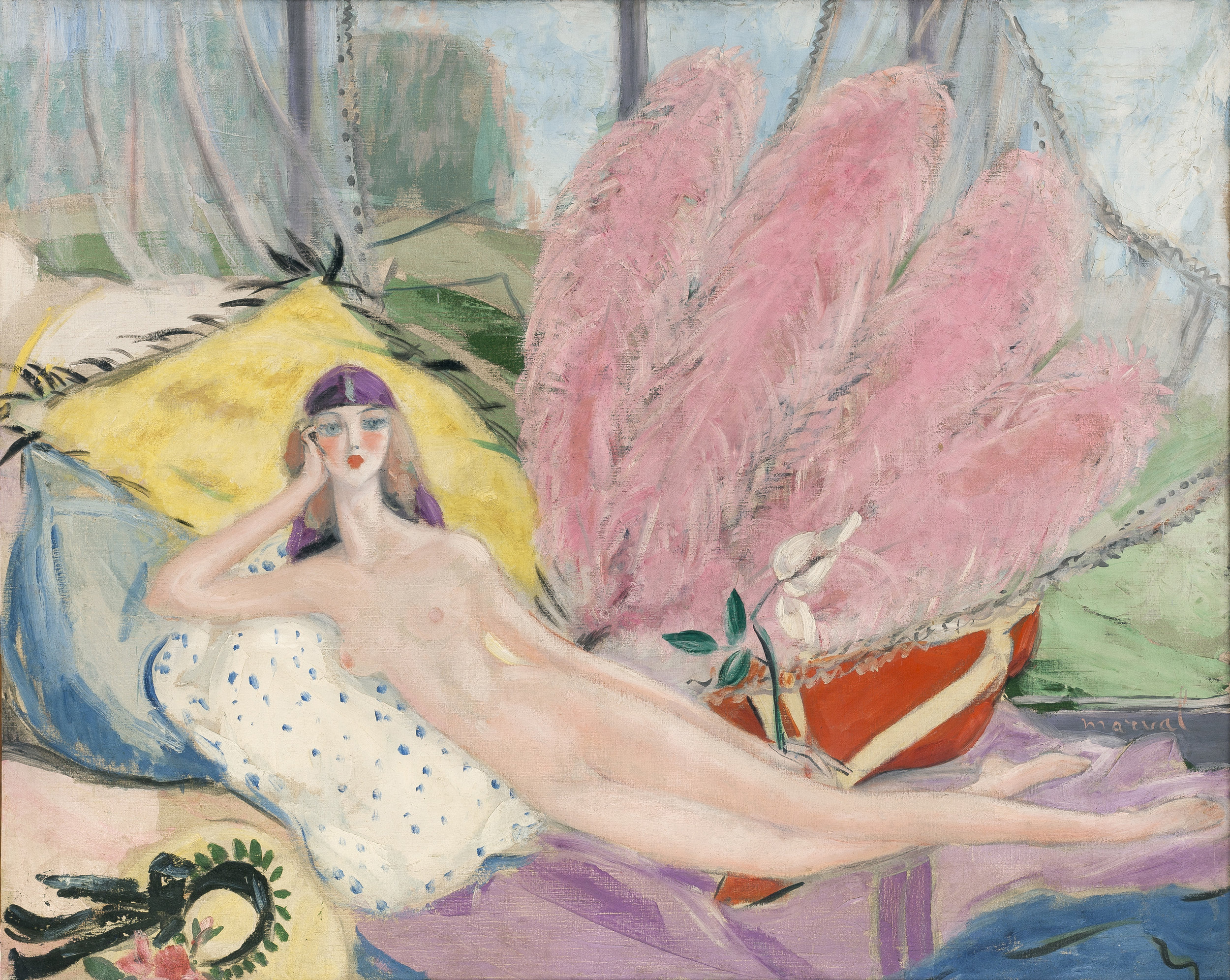 L'Étrange Femme, Jacqueline Marval, 1920. Oil on canvas, 130 x 162 cm. Private collection, Paris.
