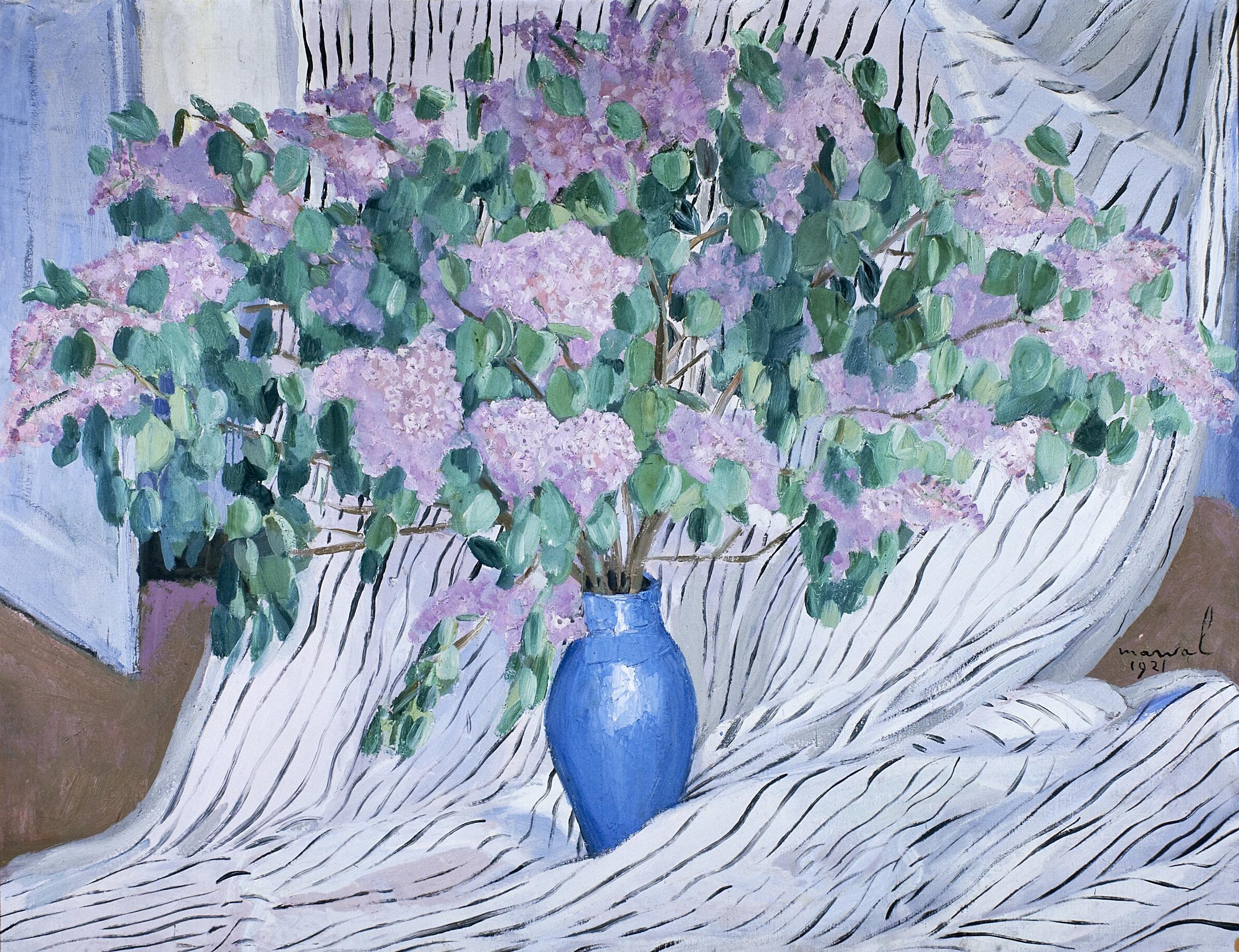 Bouquet de Lilas, Jacqueline Marval, 1921. Huile sur toile, 125 x 160 cm. Collection privée, Paris.