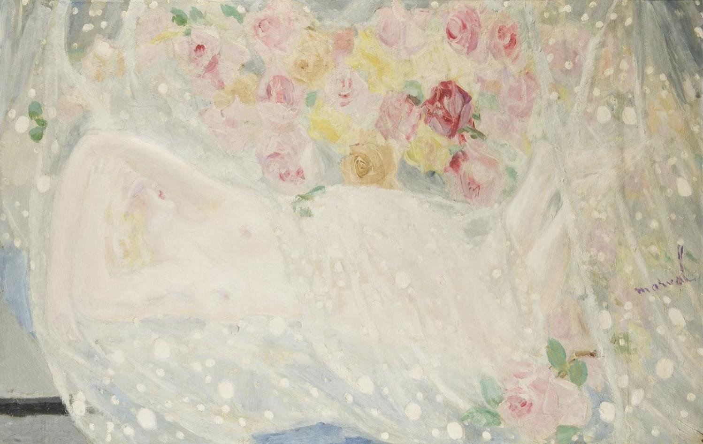 Rêve de la Femme Endormie, Jacqueline Marval. Huile sur toile.