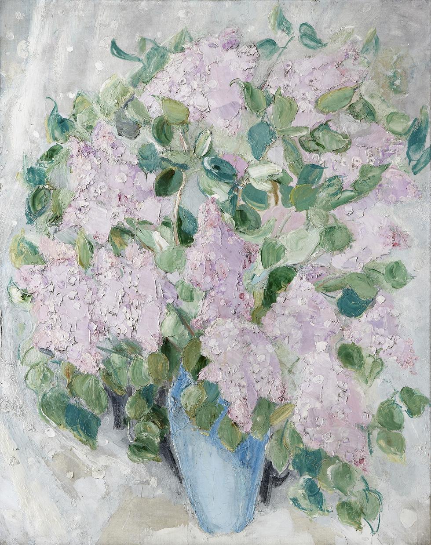 Lilas, Jacqueline Marval. Huile sur toile.