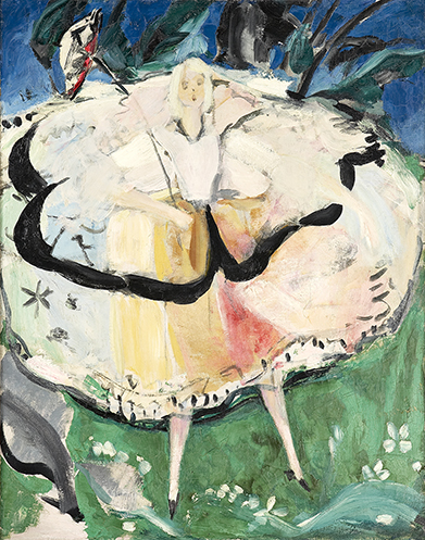 Cendrillon, Jacqueline Marval, Huile sur toile.