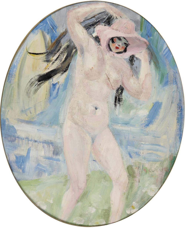 LES QUATRE SAISONS, ETE, JACQUELINE MARVAL, 1917. HUILE SUR TOILE, 64 CM X 55 CM. COLLECTION LAROCK-GRANOFF, PARIS.