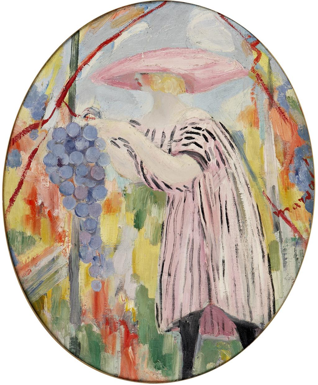 LES QUATRE SAISONS, AUTOMNE,  JACQUELINE MARVAL, 1917. HUILE SUR TOILE, 64 CM X 55 CM. COLLECTION LAROCK-GRANOFF, PARIS.