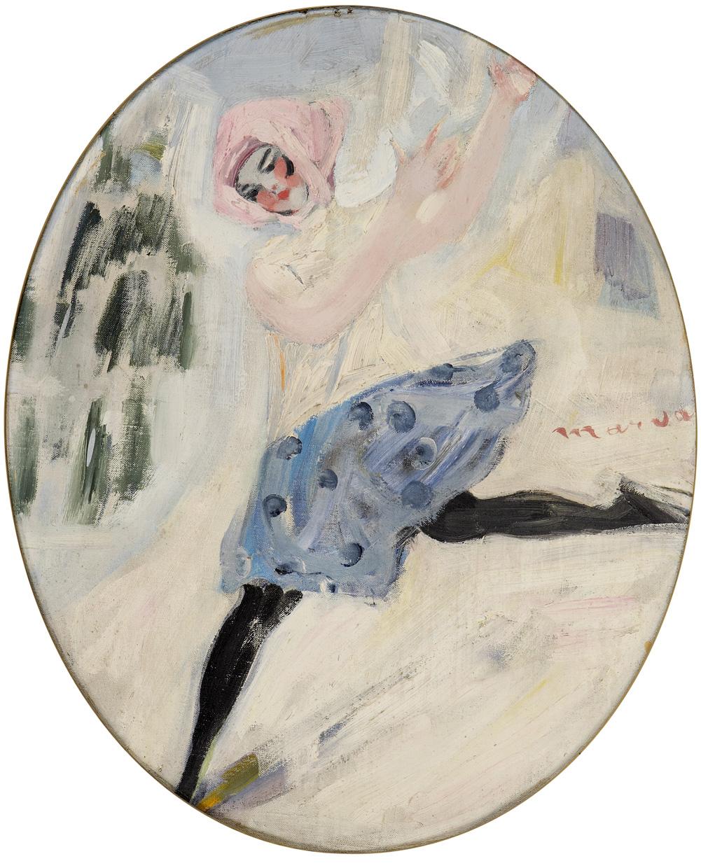 LES QUATRE SAISONS, HIVER, JACQUELINE MARVAL, 1917. HUILE SUR TOILE, 64 CM X 55 CM. COLLECTION LAROCK-GRANOFF, PARIS.