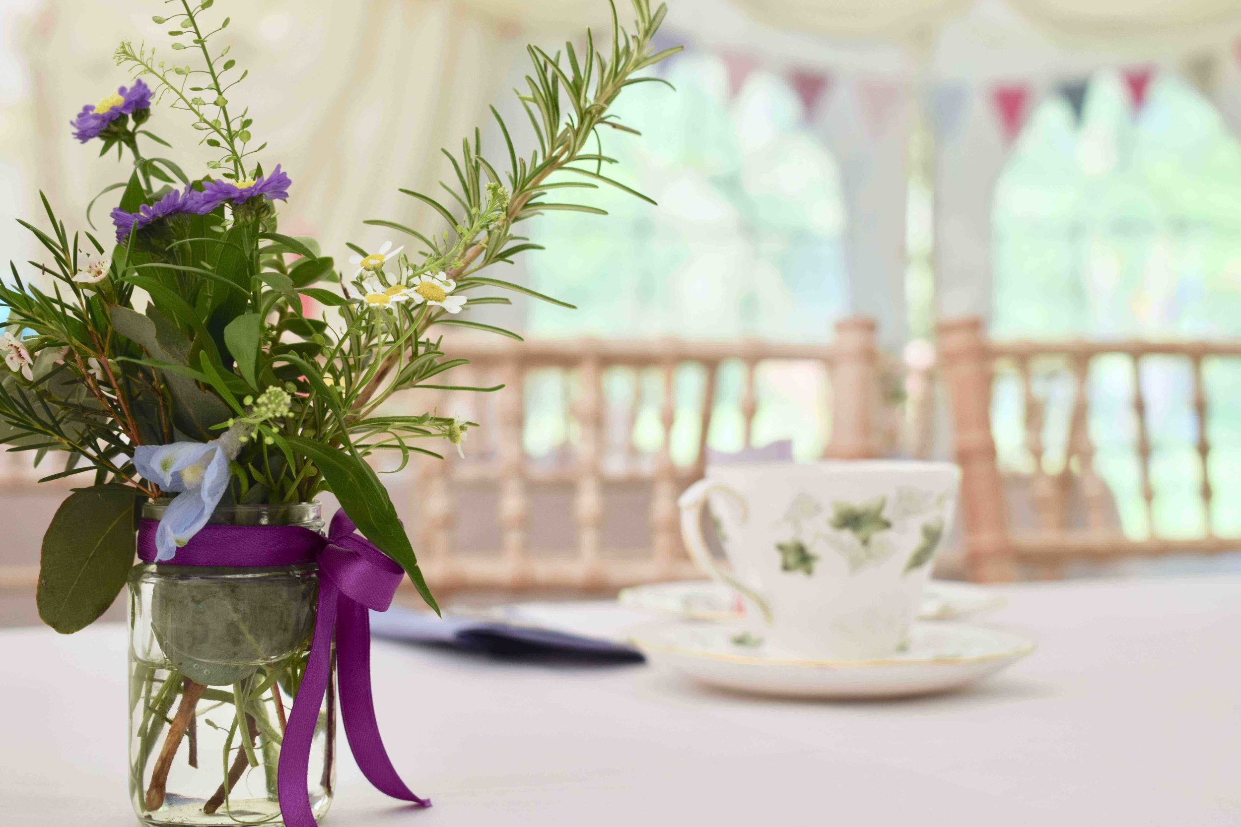 Tea for a Big Party - Vintage china hire for 50 people, perfect for birthdays, garden parties and christenings