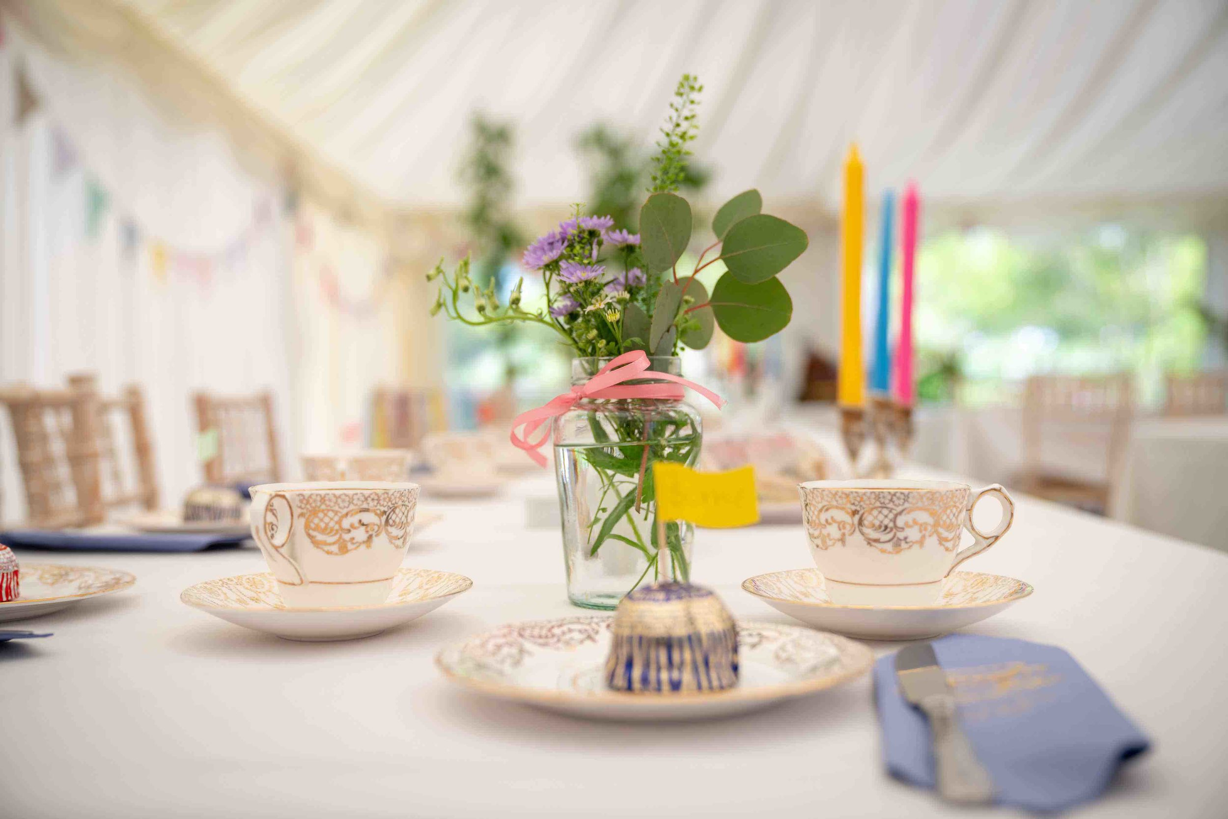 Tea for THE Party - The perfect vintage china hire package for weddings and other big events in Kent!