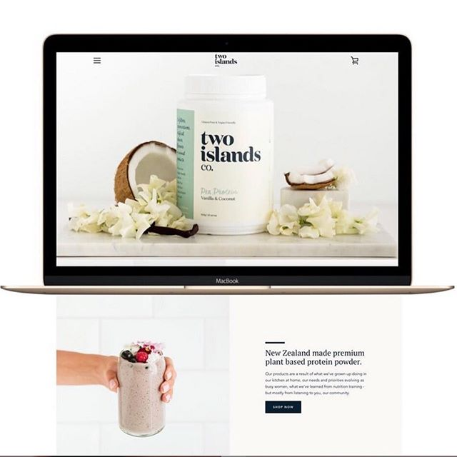 A website I designed that wasn't created in Squarespace imagine that haha! ✨ When @twoislandsco first launched I help them design their website on Shopify. They needed a website that reflected their new brand and was built to evolve as their brand and product range did (as it has now). ✨ I created a site as clean as their protein (see what I did there). ✨ Ready to launch the website of your dreams? I'm ready to help you! Get In Touch (Loves a DM slide or book a free consultation call in the bio).