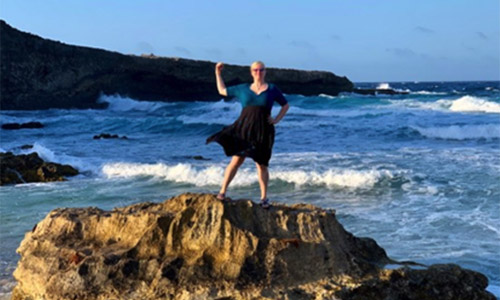 """~ Crystal - """"My rapist was ousted from presidency of my old volunteer organization thanks to the blog post I published about him.I went to Aruba with a close, trusted friend, and I told myself I was mighty, and I posed like a warrior on this ocean side rock."""""""