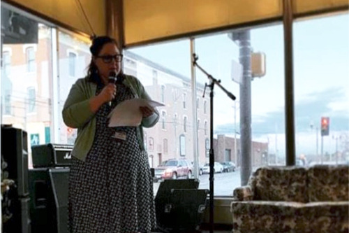 """~ Angie - """"I am the Sexual Assault Victim Advocate at The Bridge To Hope, a dual sexual assault/domestic violence non profit agency/shelter. This is me representing my agency at a Take Back the Night event on April 2nd."""""""