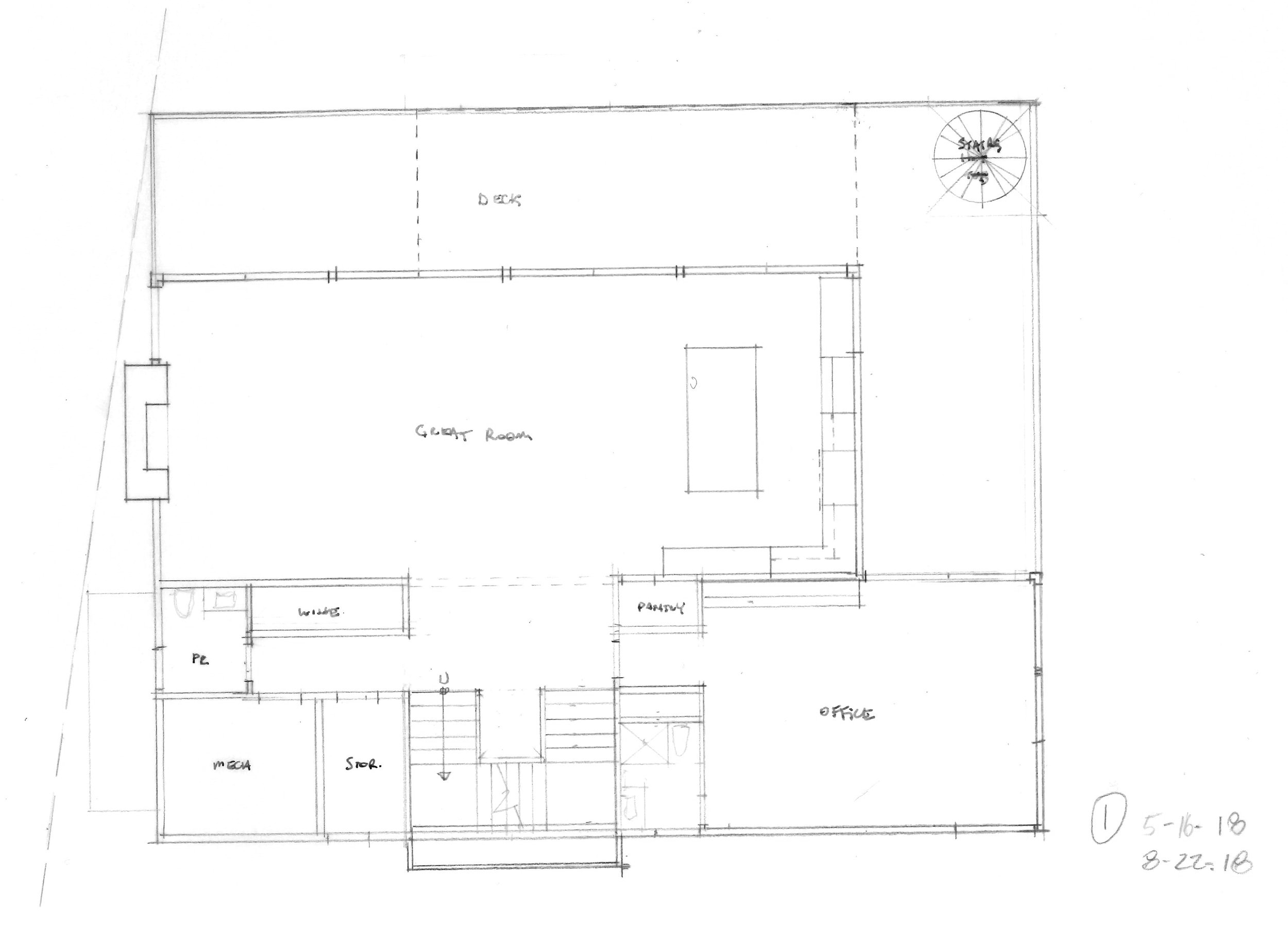 Schematic layout of the first floor.  Image courtesy of Rich Granoff.