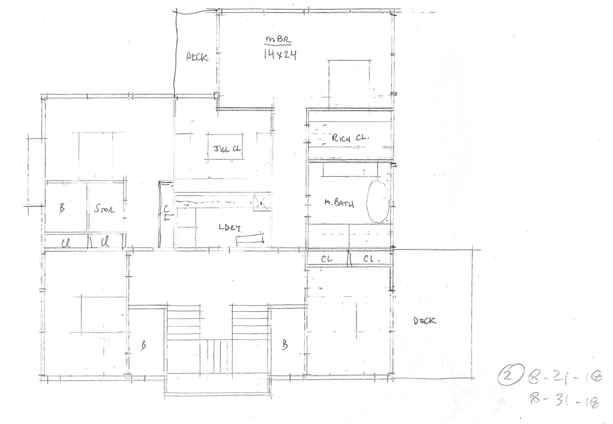 Schematic layout of the second floor.  Image courtesy of Rich Granoff.