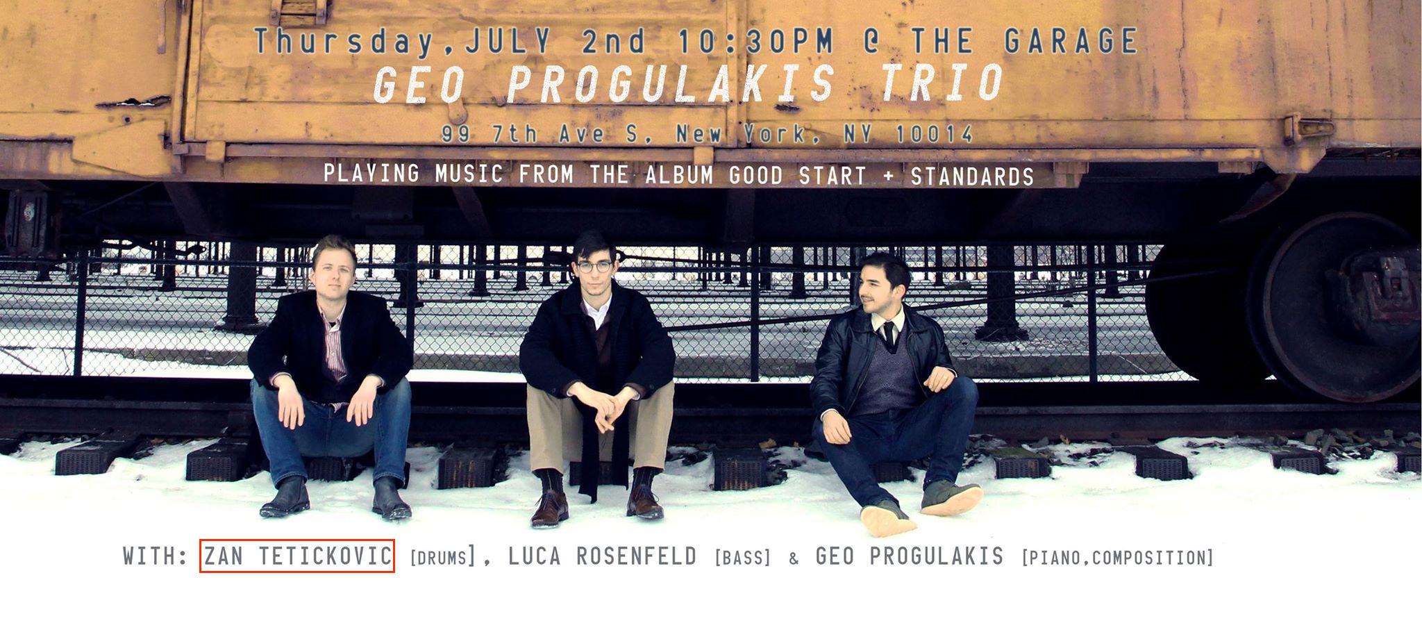 Geo Progulakis Trio : Garage (NY, USA) : (July 2 2014).jpg
