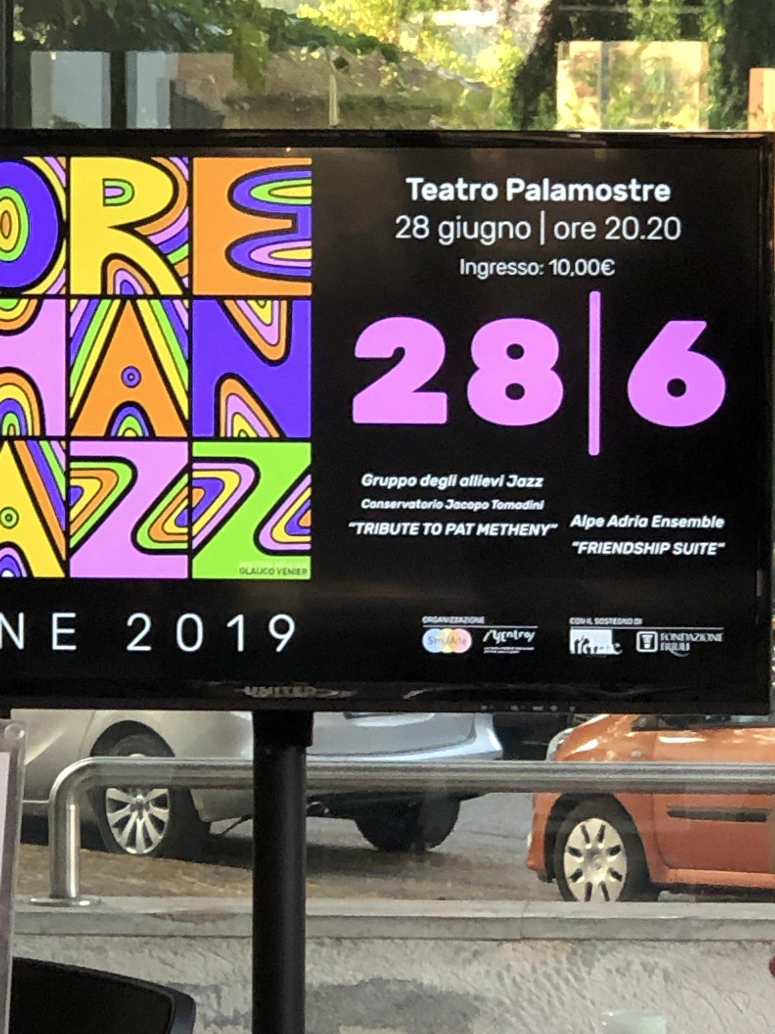 Friendship Suite - Alpe Adria Ensemble :More Than Jazz festival Udine 2019.JPG