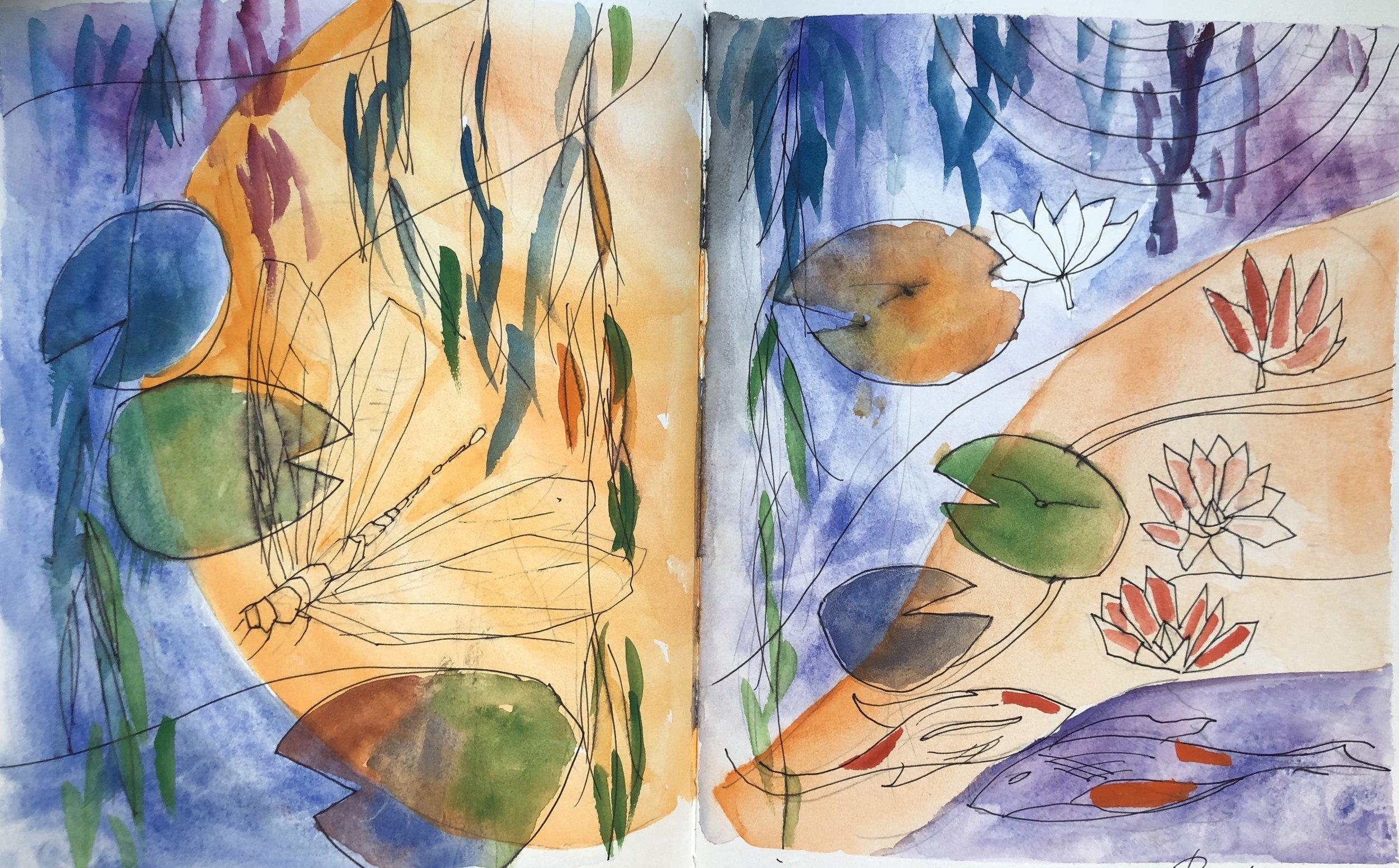 Sketchbook After Monet