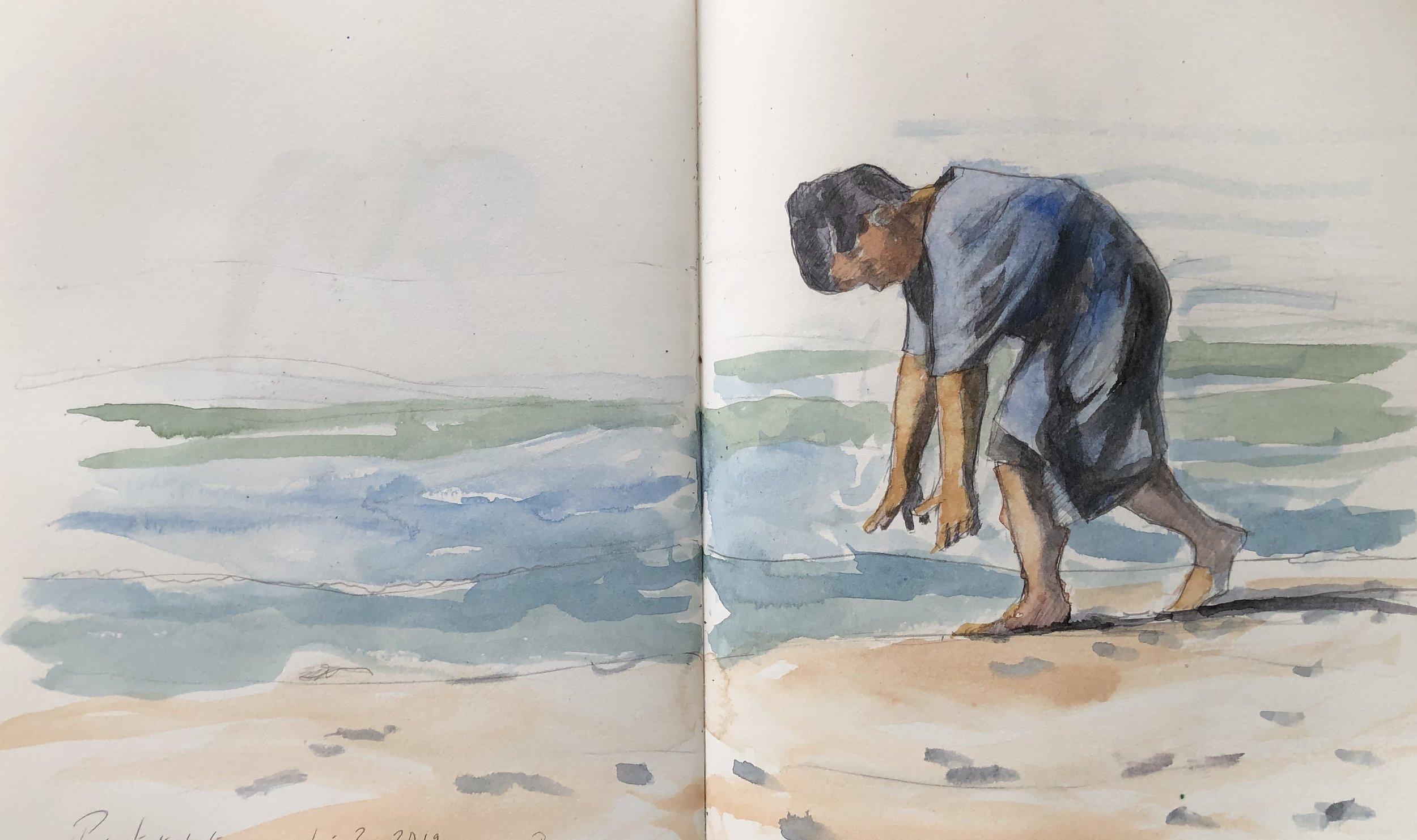 Florida Beach Sketch