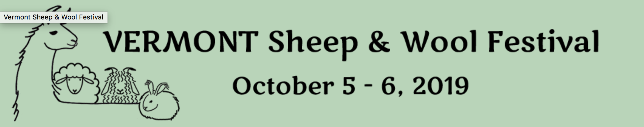 Vermont Sheep & Wool Festival 2019