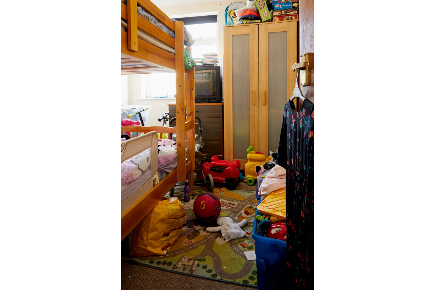Dillan and Rachel   This room is shared by Dillan, eight, and his little sister Rachel. They live in temporary accommodation with their mum. There is no space in the flat for their older brother Kyle, who lives with his grandma.  The kids were split up in 2016 when they left their home for a women's refuge. Their mum, Deborah, was being raped by their dad.  Four-year-old Rachel still spends time with him in Sussex. The court permits these visits if he locks himself in his bedroom at night, but Rachel says she sleeps in her dad's bed.  Social Services say they can't do anything, and they shift the conversation towards Deborah's previous drug addiction.