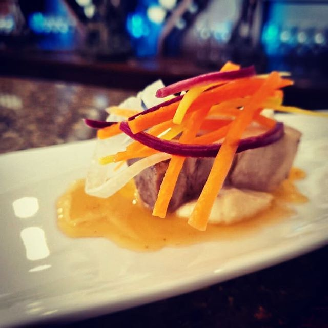 End result of a little hard work for our friends @lundymanorwinecellars. Slow braised pork belly, parsnip whipped creme fraiche, habanero lime glaze, heirloom carrot and fennel slaw. Habanero to heat you up and ice wine to chill you down. What could be finer on a brisk winter day? . . . cook #cooking #food #chef #foodie #foodporn #kitchen #delicious #instafood #recipe  #eat #tasty #dinner #yummy  #foodstagram #yum #foodgasm #cheflife #instagood #foodpic #foodlover #lunch #catering #myhomestc #porkbelly