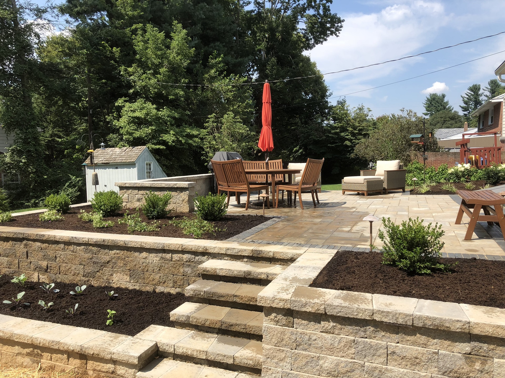 Patio and retaining wall in Lititz, PA