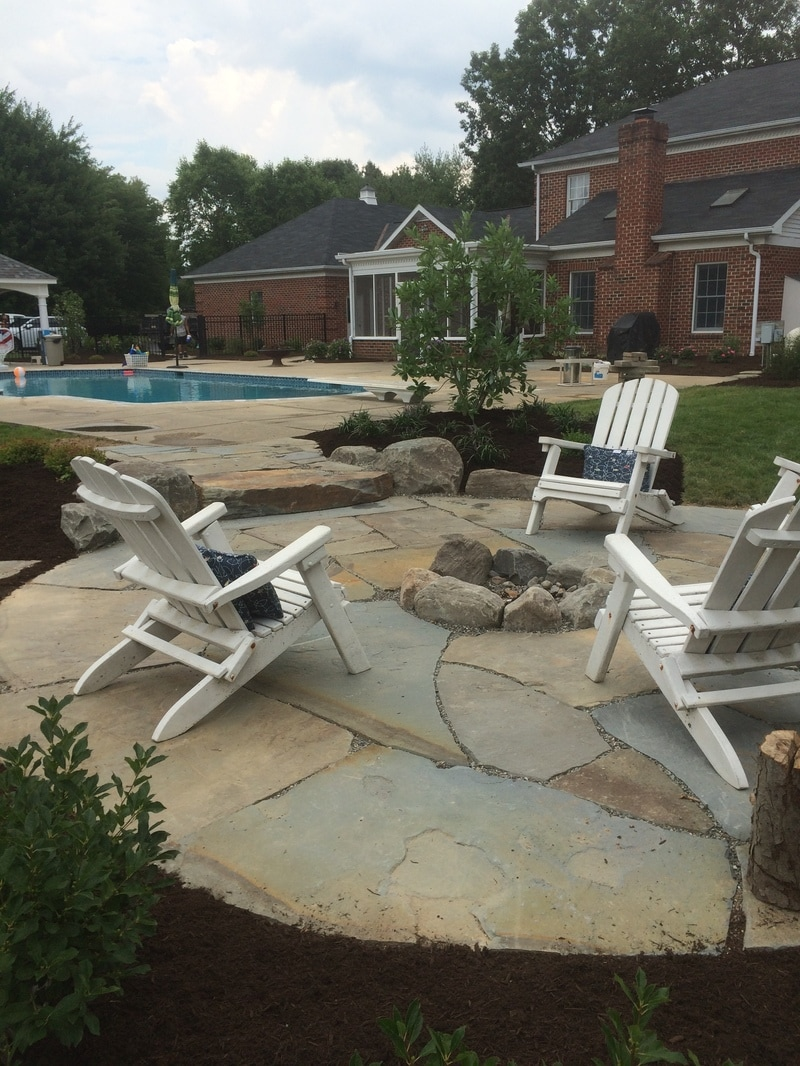 Inground pool with stunning patio in Lititz, PA