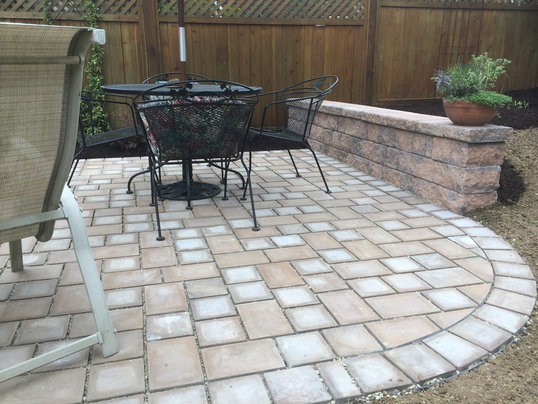 Patio with permeable pavers in Lititz, PA