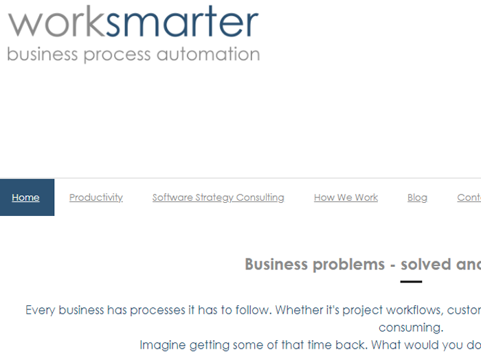 Worksmarter - Worksmarter is a consulting business providing business process analysis and automation. Click to visit the site