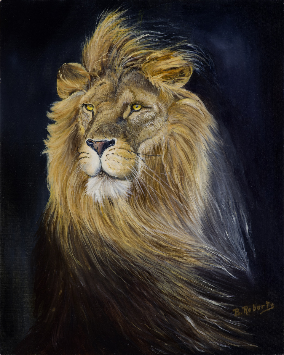 """LION OF JUDAH"",  Oil on Canvas,  16x20 inches (unframed),  SOLD"