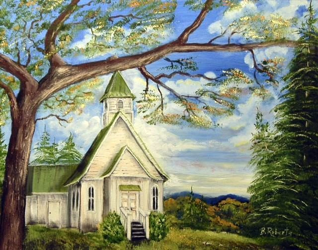 """""""THE LORD'S HOUSE"""",  Oil on Canvas,  16x20 inches,  $850"""