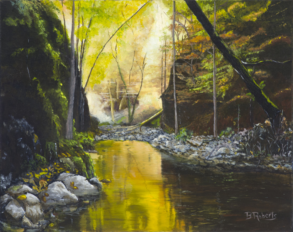 """""""GOLDEN SHADOWS"""",  Oil on Canvas,  16x20 inches (unframed),  $850"""