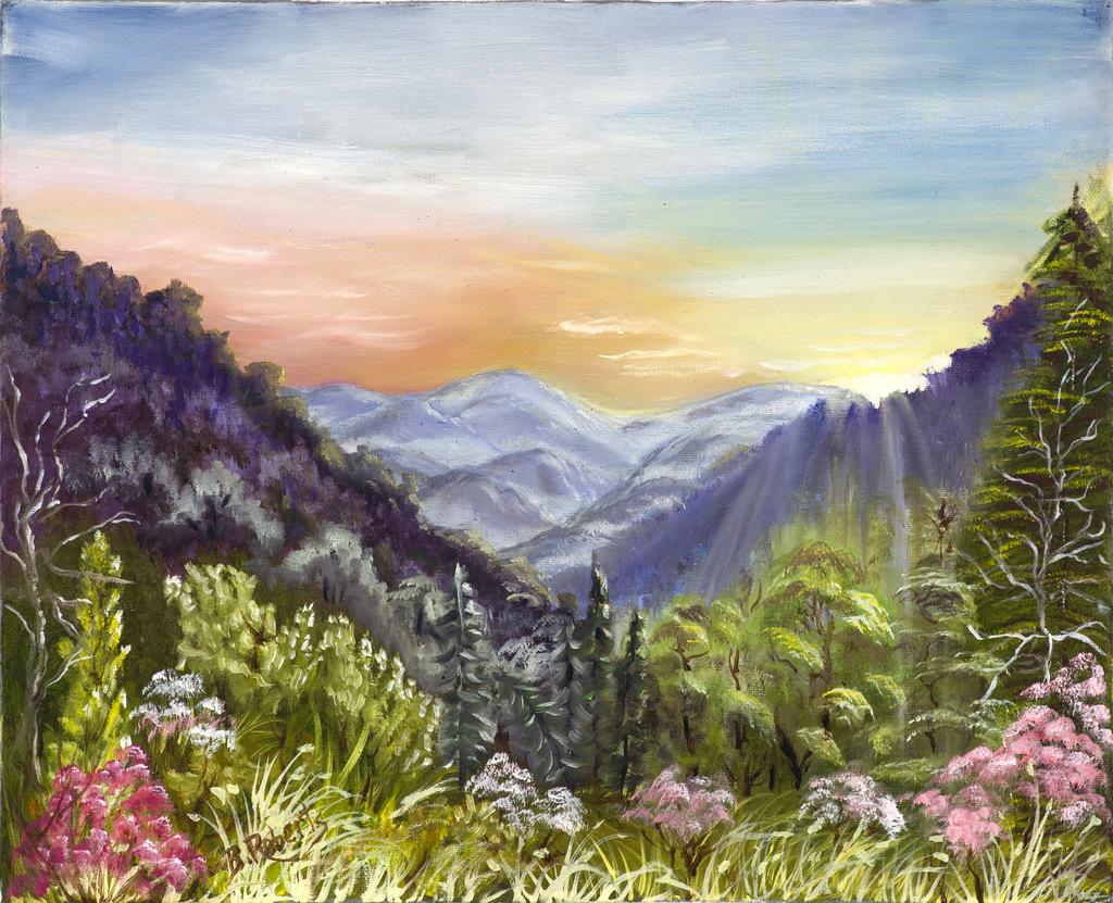 """SPRINGTIME"",  Oil on Canvas,  16x20 inches (unframed),  $850"