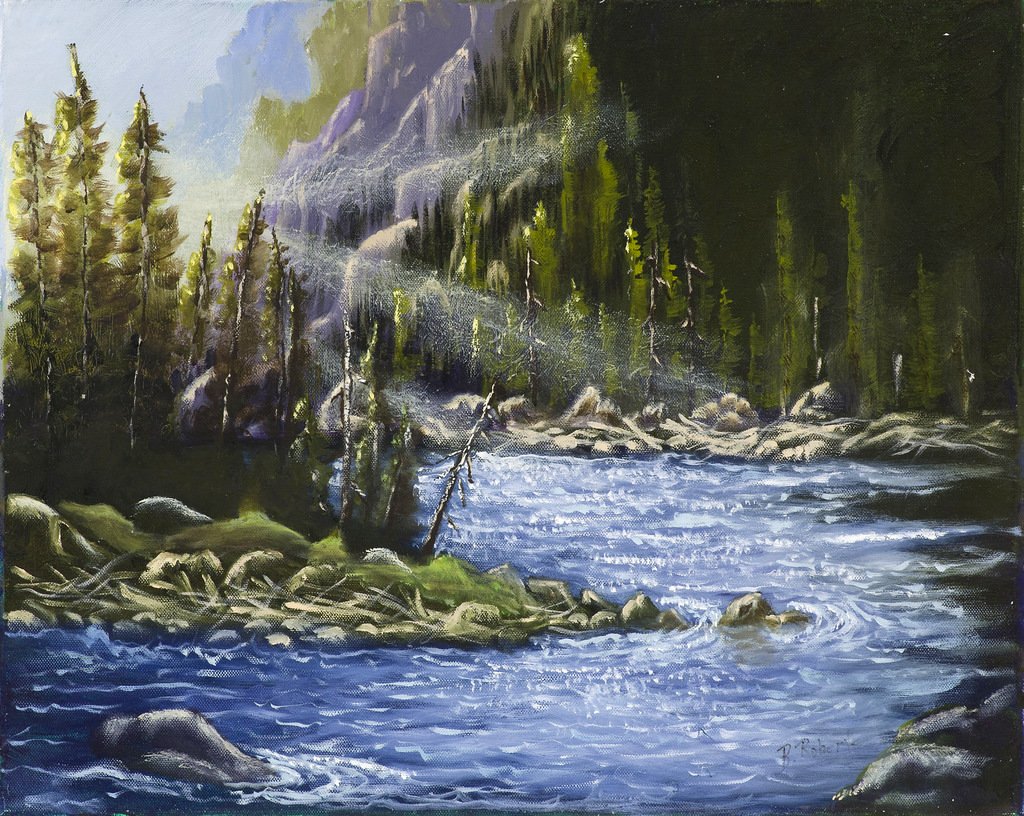 """""""MAGNIFICENT RIVER"""",  Oil on Canvas,  15x20 inches (unframed),  $825"""