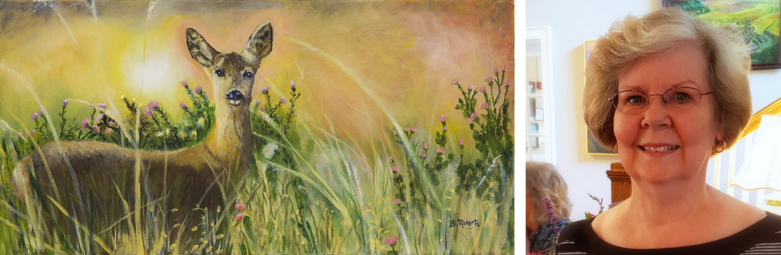 """""""SPRING DEER"""", Oil on canvas, 12x24 inches (uNframed), ON EXHIBIT"""