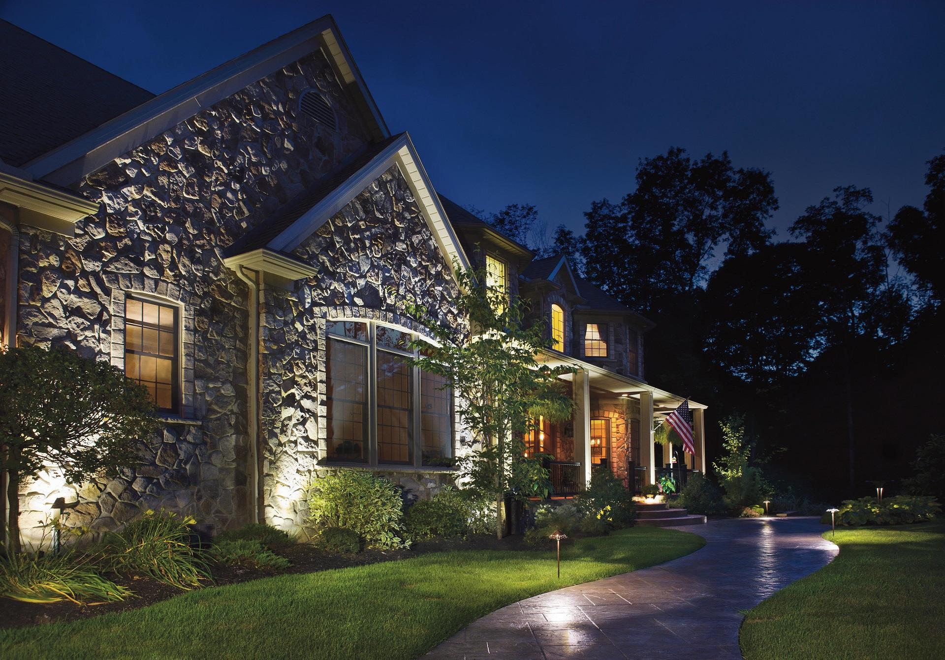 Landscape Lighting in Newington, CT | Birch Hill Landscape & Design