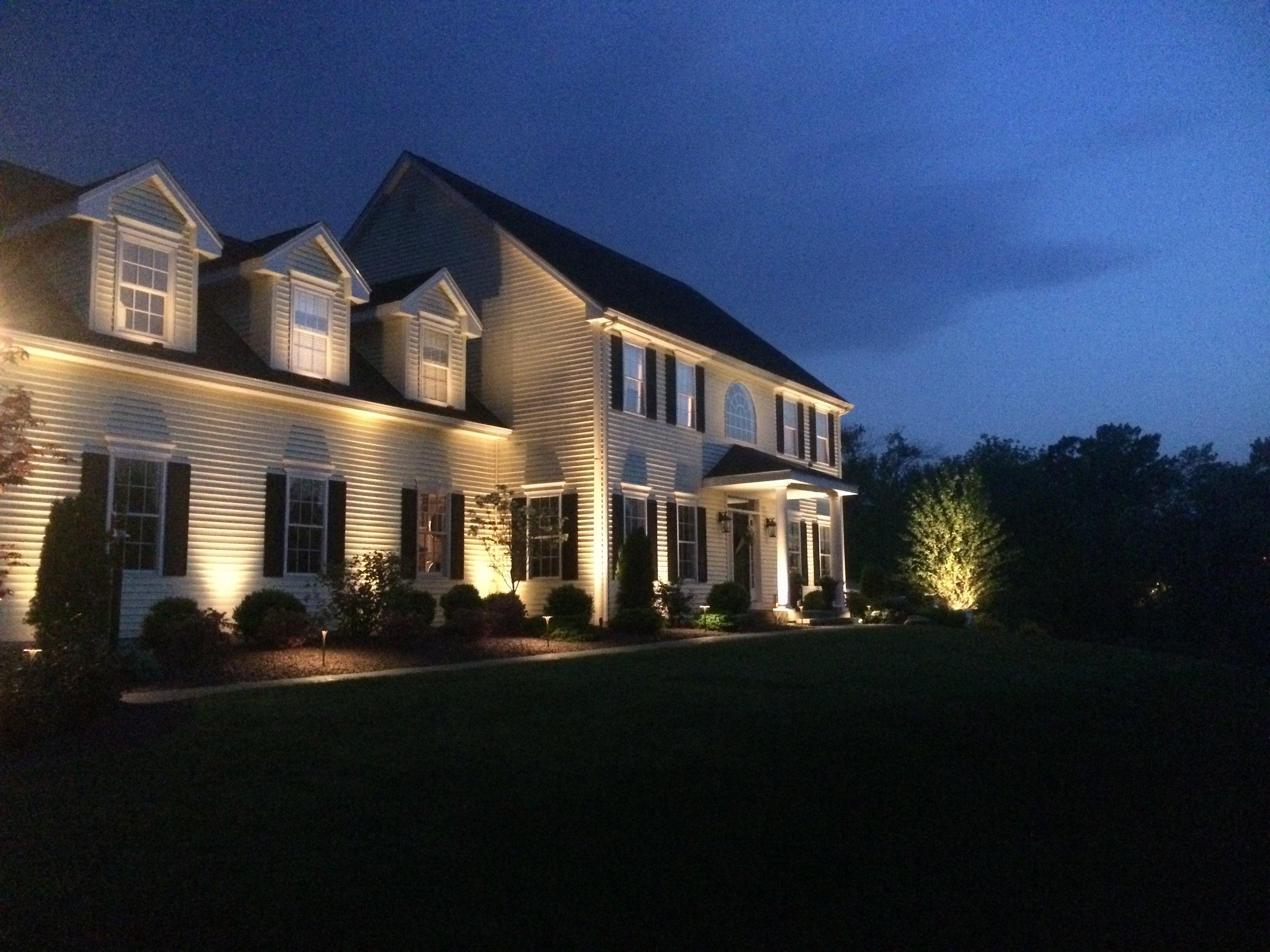 Walkway with outdoor lighting in Newington, CT