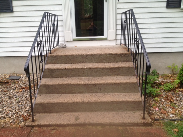 Walkways and steps in Newington, CT - before