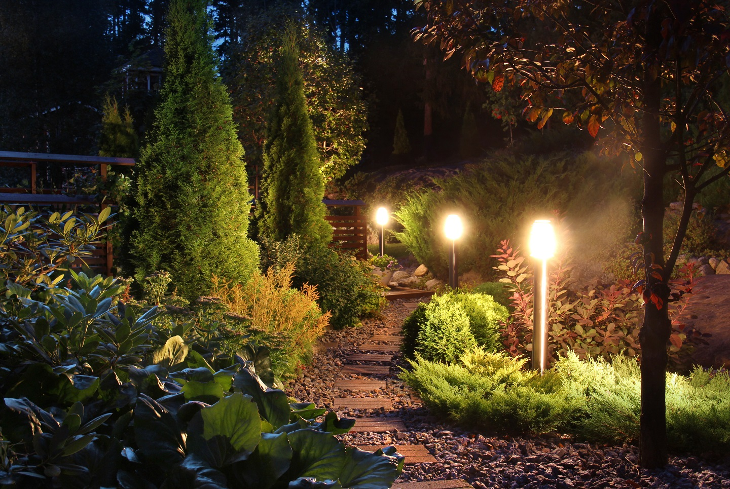 Outdstanding landscape lighting in Newington, CT