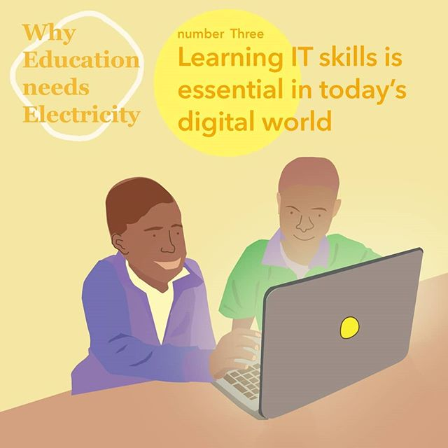 The world is digitizing. By 2020 its estimated there will be 1.5 million new digitized jobs across the globe. 💻To prepare students for life outside school, learning computer skills in a safe environment is essential. 🏫💻👍🏾 .. It is said that the most important technology skill for students is the ability to judge the quality and hidden influences of content that they encounter in the online world. In the past, most research materials online such as encyclopedias, books, newspapers, and magazines had levels of review for content. Now we live in a world where anyone can post anything online that looks reliable. With clean electricity and internet access, students can start getting used to understanding the signs and marks of a legitimate article and verifying their sources. . . . #SDG7 #power #electricity #renewable #SDG7 #educationneedselectricity #projecttsehigh #PjT #cleanenergy #socialchange #education #academic #students #school #schools