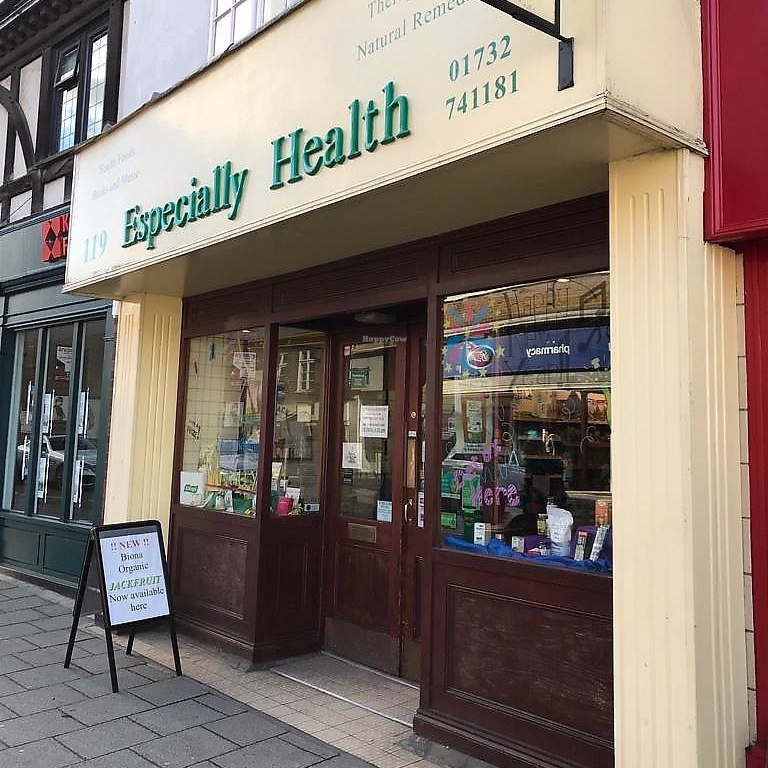 Especially Health - 119 High St, Sevenoaks TN13 1UPMon to Saturday: 9am - 5:30 pmSunday: 10am - 4:00pmphone: 01732 741181