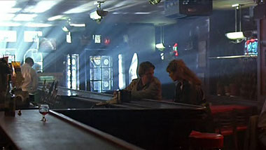 Iconic bar scene from    Highlander