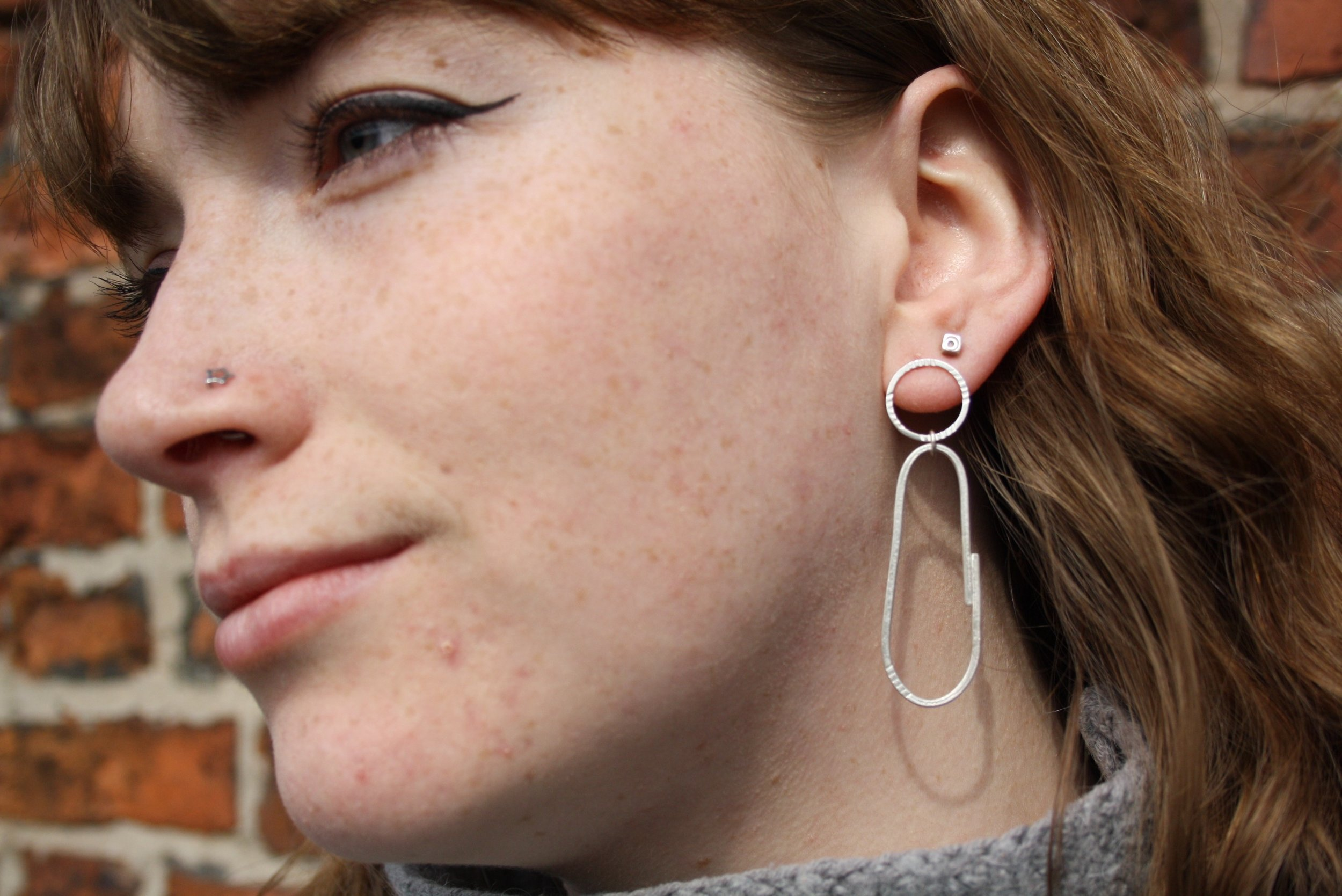 Earrings - Handmade silver