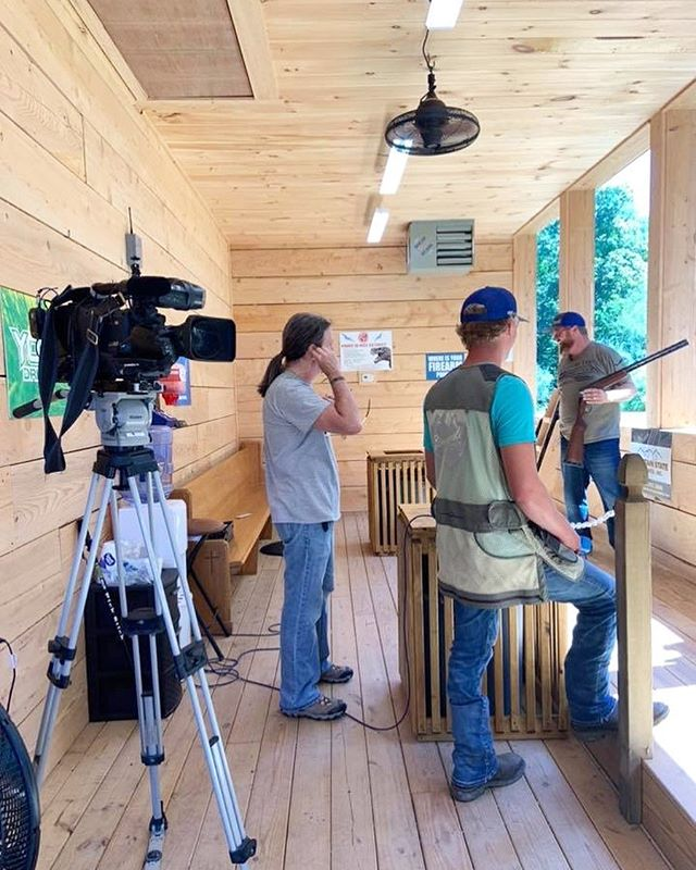 Fun times at Stonewall Sporting Clays filming a piece that will air tomorrow, Thursday, September 5, on WCHS TV.  Be sure to catch it if you can!  But since you'll PROBABLY be with us for Steak Night (hint hint! 😉) when it airs, no worries!  Look for it tomorrow night after you get home on www.wchstv.com.  Call us now or go online to make your reservations for this week!  We can't wait to see you!