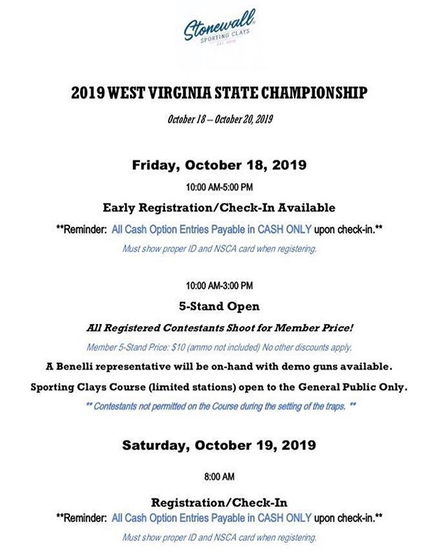 ‼️WV State Championship Contestants‼️ Here is the info you have so patiently awaited!  We can't thank you enough for your patience and cooperation as we have planned our first State Championship Tournament!  We hope this covers everything you need to know, but please feel free to contact us with any questions.  We can't wait to see you! #wildandwonderful
