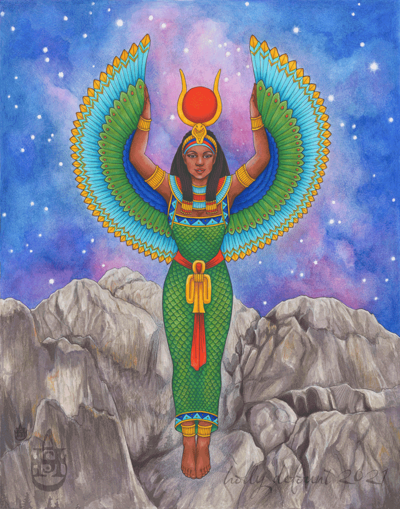 Isis Rising by Holly DeFount. Prints available here.