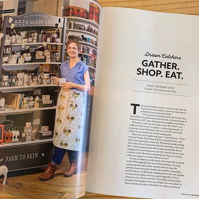 So excited about our feature in @beekman1802almanac! I'll share the full article on Facebook soon, or stop by to see my copy! . @beekman1802boys  @chrisbebout  @ayeshabshero  @wecangohomeagain  @alexandracooks  #vischerferrygeneralstore