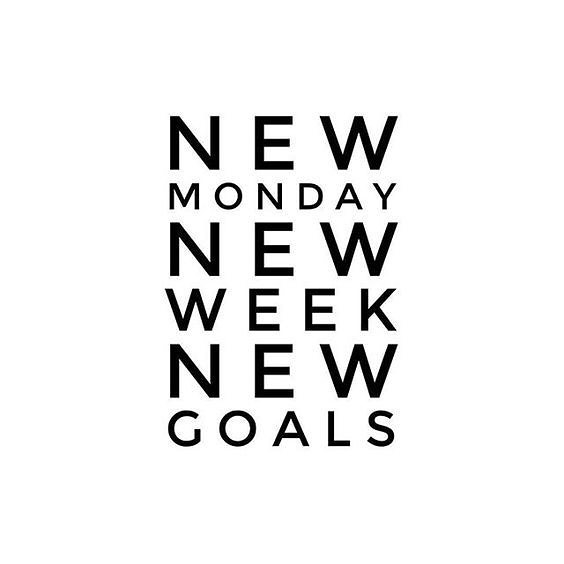 Monday motivation. Let's get it! #levelup #newweek #newgoals