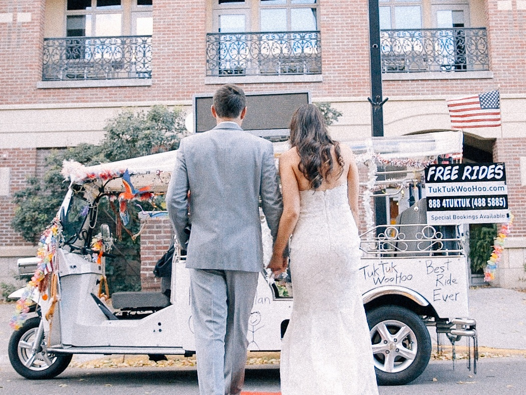 Kelly + Dylan - Kelly and Dylan tied the knot during their small town wedding in Stillwater, MN. Their charming venue featured exposed brick, wooden beams, and a stunning view of the Saint Croix River. The couple took full advantage of the small town charm and spent the afternoon adventuring through the streets via a TukTuk Woohoo. Surrounded by family and friends the evening came to a close with Kelly and Dylan dancing the night away as husband and wife.