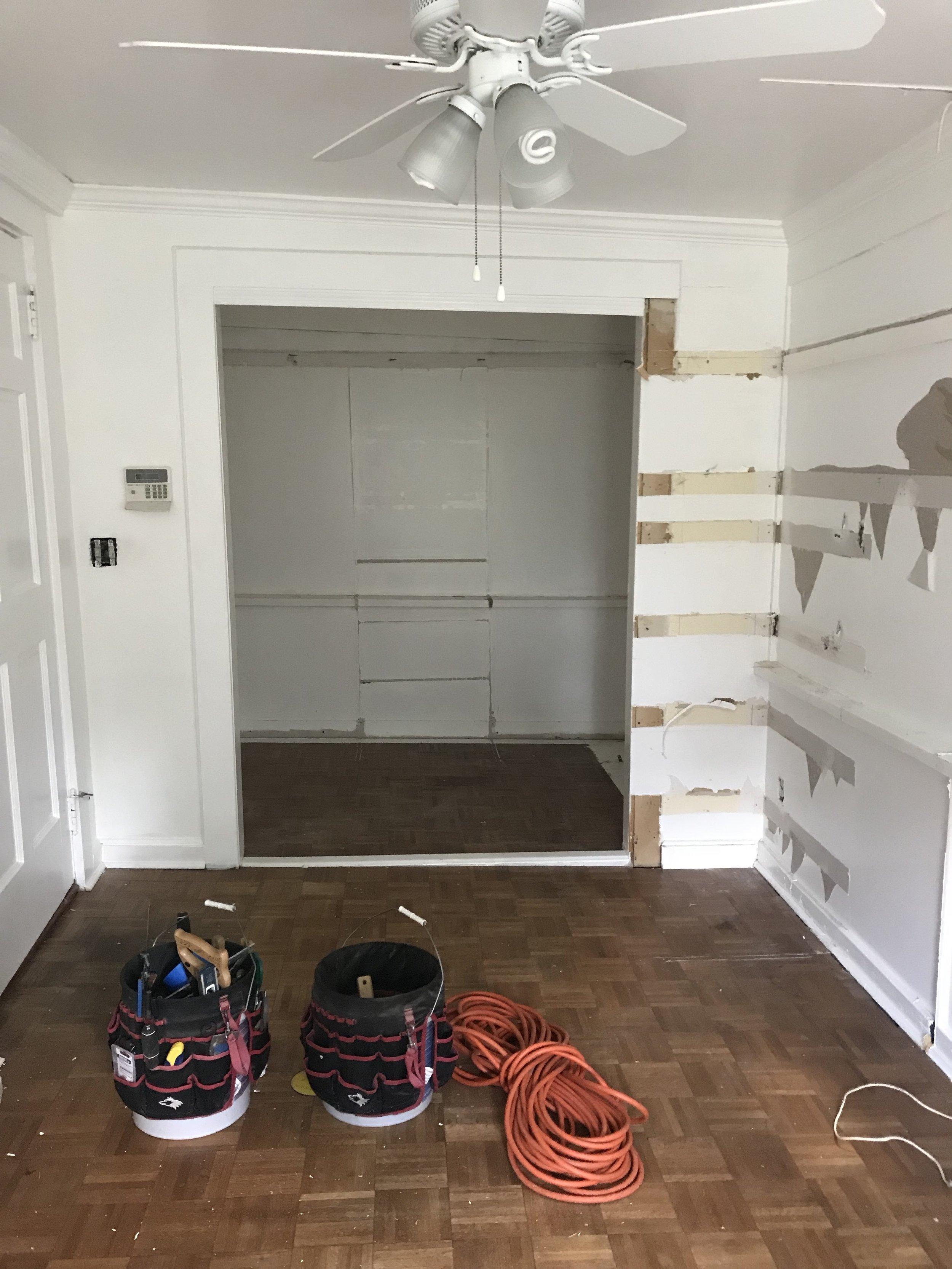 back of dressing closet
