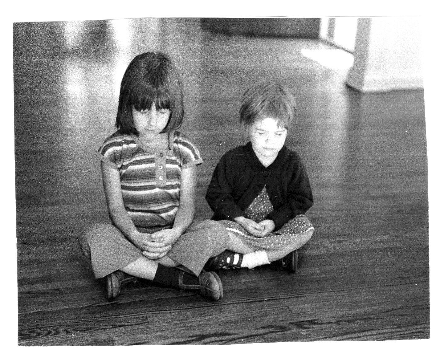 - Eden and her sister meditating in 1978.