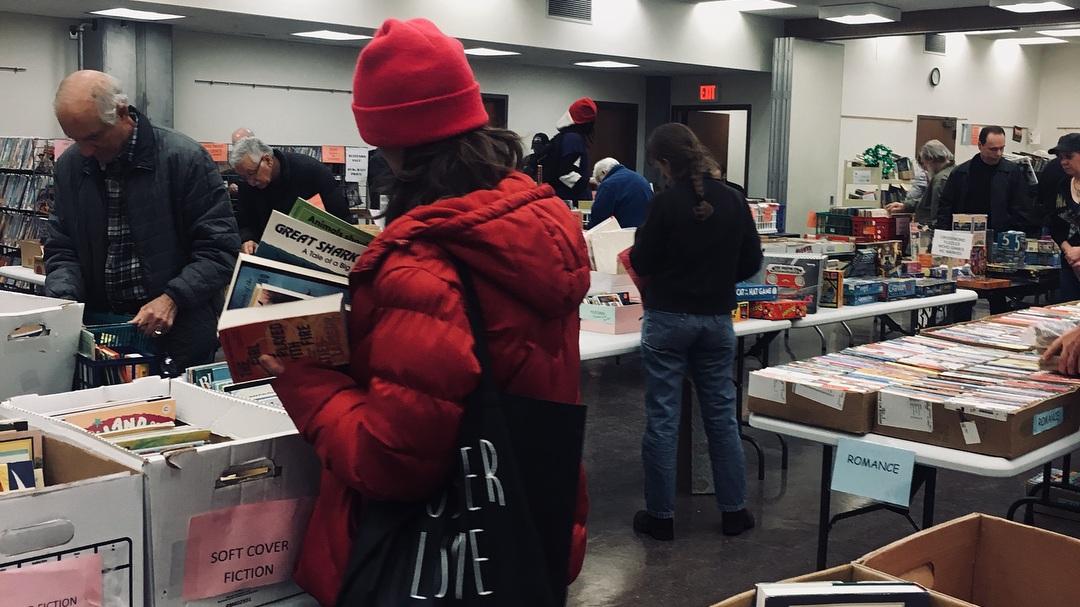 Book sale floor