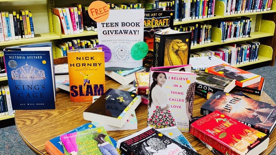 Teen Book Giveaway Table